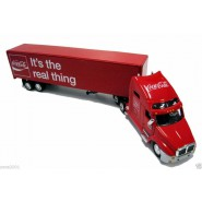COCA COLA Modello DieCast Camion Tir Rosso IT'S THE REAL THING 30cm Scala 1/64 Originale Motor City