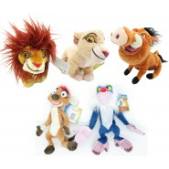 COMPLETE SET 5 Plush Plushies THE LION GUARD 17cm ORIGINAL Disney LION KING