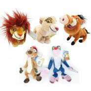 SET COMPLETO 5 Peluche THE LION GUARD Re LEONE 17cm ORIGINALE Disney