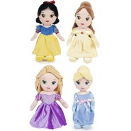 COMPLETE SET 4 Plush Plushies DISNEY PRINCESS 30cm ORIGINAL Disney Belle Rapunzel Snow White Cinderella PRINCESSES