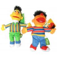 SET 2 Peluche 20cm SESAME STREET Bert Ernie ORIGINALI Ufficiali Muppets