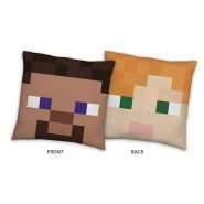 MINECRAFT PILLOW Two Faces on the side 40x40cm Original and Official