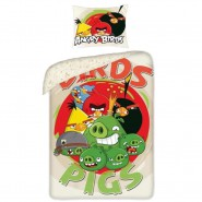 Bed Set ANGRY BIRDS PIGS DUVET COVER 160x200 Pillow cover 70x80 Cotton ORIGINAL