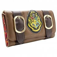 HARRY POTTER Satchel ID & Card Tri-Fold Purse Brown Wallet 18cm HOGWARTS Alumni Original Bioworld