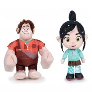 PAIR 2 PLUSH Plushies RALPH and VANELLOPE 20cm RALPH BREAKS INTERNET Wreck It Ralph 2