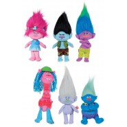 COMPLETE SET 6 Different PLUSHIES 20cm Characters from TROLLS Movie Original