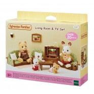 Living ROOM and TV Set SYLVANIAN FAMILIES 5287 Epoch