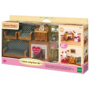 Living ROOM Deluxe Set With Working FIREPLACE SYLVANIAN FAMILIES 5037 Epoch