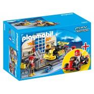 Playset GARAGE Corsa GO KART RACE Originale PLAYMOBIL City Action 6869