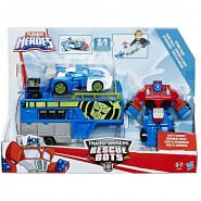 Robot Model OPTIMUS PRIME Racing Trailer TRANSFORMERS RESCUE BOTS HASBRO B5584 Playskool Heroes
