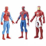 Special BOX 3 Diverse Figure 30cm UOMO RAGNO Spider-Man Homecoming Originale HASBRO Serie TITAN HERO