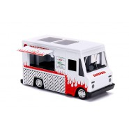 DieCast Model TACO TRUCK From Movie DEADPOOL WHITE/Red Scale 1/32 11cm Original JADA Toys MARVEL