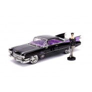Model 1959 CADILLAC COUPE DEVILLE 22cm With Figure Catwoman 1/24 DIE CAST DC Comics JADA Toys