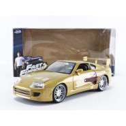 FAST and FURIOUS Model SLAP JACK 's GOLDEN TOYOTA SUPRA Scale 1/24 Original JADA