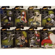 SET COMPLETO 8 Modellini Auto NIGTHMARE BEFORE CHRISTMAS 25 anni ORIGINALE Disney Hot Wheels