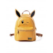 Zaino EEVEE Pokemon Con Orecchie Beige Morbido con Zip 26x20cm ORIGINALE Backpack