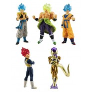 DRAGONBALL SUPER Complete Set 5 FIGURES Serie BROLY MOVIE 01 Bandai Gashapon