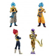 DRAGONBALL SUPER Lot 4 FIGURES Serie BROLY MOVIE 01 Bandai Gashapon