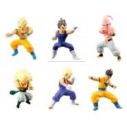 Raro SET 6 FIGURE Dragon Ball ACTION POSE Serie 02 HG Plus BANDAI Gashapon