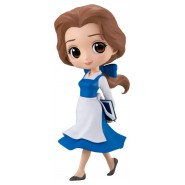 Figure Statue 14cm BELLE Blue Dress Beauty Beast QPOSKET Banpresto DISNEY Version A