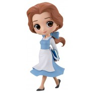 Figure Statue 14cm BELLE Light Blue Dress Beauty Beast QPOSKET Banpresto DISNEY Version B