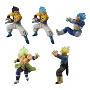 DRAGONBALL SUPER Complete Set 5 FIGURES Versus Battle Figures SERIES 09 Bandai Gashapon