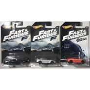 3 Car Models FAST & FURIOUS 1/64 6cm ORIGINAL Mattel Hot Wheels DieCast