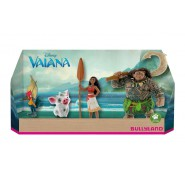 Set 4 Figures 9cm OCEANIA Vaiana Maui Pua HeiHei DISNEY Originali BULLYLAND