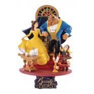 Figura Statuetta Diorama BELLA E LA BESTIA 15cm Originale DISNEY Beast Kingdom D-Select 011