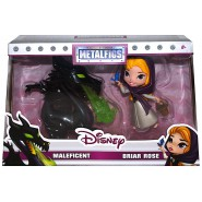MALEFICENT and BRIAR ROSE  Figures 10cm DIORAMA METAL Original JADA Metalfigs D3 DISNEY DieCast