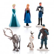 SET 6 Mini Figure 4cm FROZEN Anna Elsa Olaf Sven Kristoff Hans DISNEY Personaggi Torta NUOVI