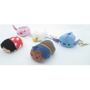 SET COMPLETO 5 Mini Peluche LILO e STITCH 8cm Tsum Tsum ORIGINALE Disney Angel Duck Papera Dr. Jumbo