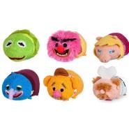SET COMPLETO 6 Mini Peluche MUPPETS 8cm Tsum Tsum ORIGINALE Disney Kermit Chef Gonzo Piggy Animal Fozzie