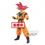 DRAGON BALL Super Figure Statue 22cm Son Gokou GOKU CHOKOKU BUYUDEN Super Saiyan God Original BANPRESTO Japan Dragonball