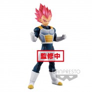DRAGON BALL Super Figure Statue 22cm VEGETA CHOKOKU BUYUDEN Super Saiyan God Original BANPRESTO Japan Dragonball