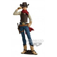 MONKEY D LUFFY Figure Statue 21cm ONE PIECE TREASURE CRUISE World Journey Vol.1 Cowboy BANPRESTO