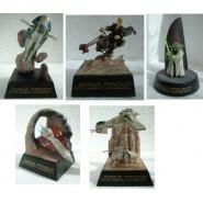 Rarissimo SET 5 Figure Diorama STAR WARS Tomy Trading Figures SERIE Part 3