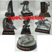Rarissimo SET 7 Figure Diorama STAR WARS Tomy Trading Figures BEST COLLECTION