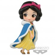 Figura Statuetta Collezione BIANCANEVE 7cm WINTER COSTUME Disney Snow White PETIT QPOSKET Banpresto
