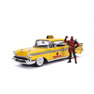 Model 1957 CHEVY BEL AIR Taxi 20cm With Figure DEADPOOL 1/24 DIE CAST Marvel JADA Toys
