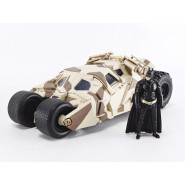 Model BATMOBILE DARK KNIGHT Camouflage 20cm With Figure of BATMAN 1/24 DIE CAST DC Comics JADA Toys