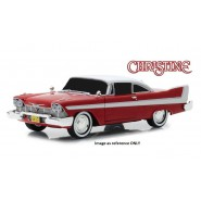 CHRISTINE DieCast Model Car 19cm PLYMOUTH 1958 FURY Red White Blacked Out Windows Evil 1/24 ORIGINAL Greenlight
