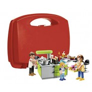 Playset FAMILY KITCHEN Carry Case Original PLAYMOBIL City Life 9543