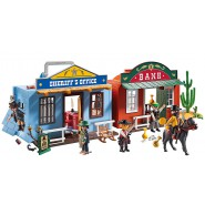 Playset Sheriff and Bank PORTABLE WESTERN VILLAGE Playmobil 70012