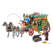 Playset STAGE COACH WESTERN With Burglar And Treasure Playmobil 70013