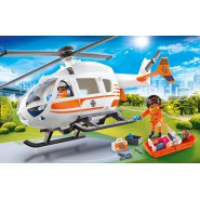 Playset Rescue Helicopter With Injuried Person Original PLAYMOBIL City Life 70048