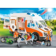 Playset AMBULANCE With Light and Sound Original PLAYMOBIL City Life 70049