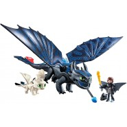 Playset TOOTHLESS and HICCUP with Baby Dragon Original Playmobil Dragons 70037