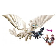 Playset WHITE FURY with Baby Dragon and Children Original Playmobil Dragons 70038