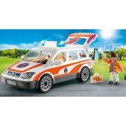 Playset EMERGENCY CAR With Light and Sound Original PLAYMOBIL City Life 70050